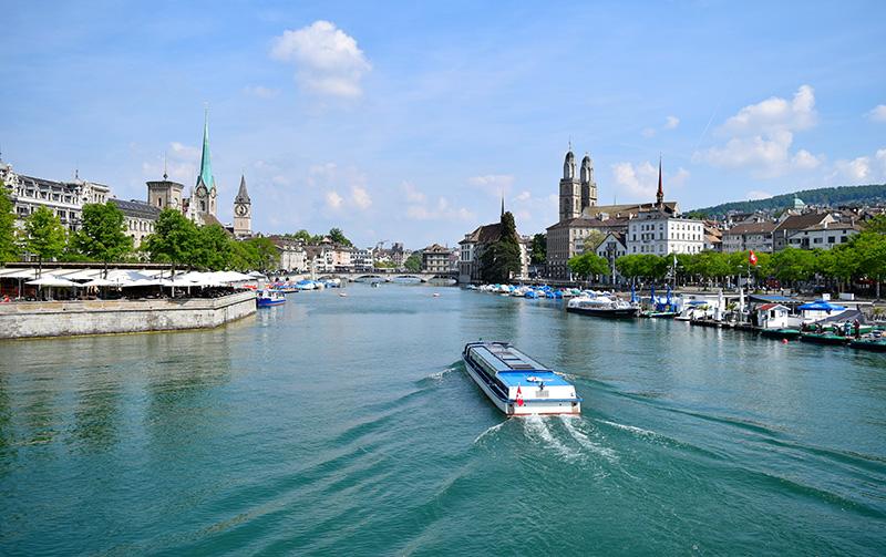 Zurich, River Limmat, Switzerland