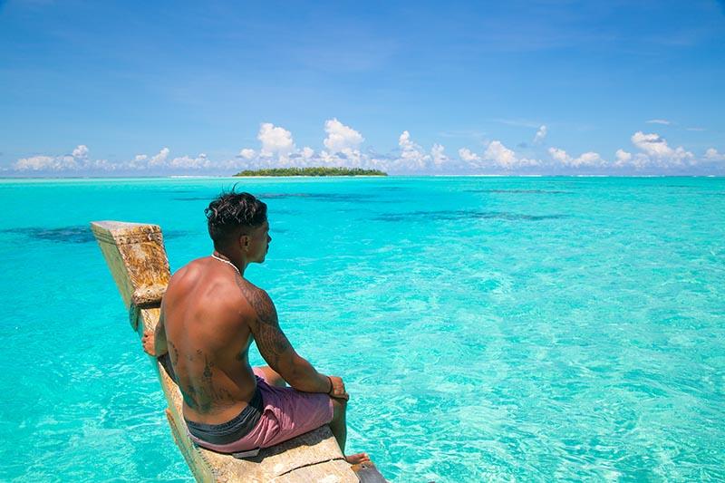 Vaka Cruise Boat, Aitutaki Lagoon, Cook Islands