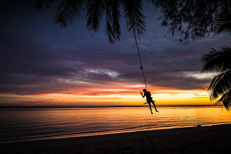 Sunset, Cook Islands