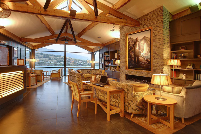The Rees Hotel, Queenstown, New Zealand, luxury hotel