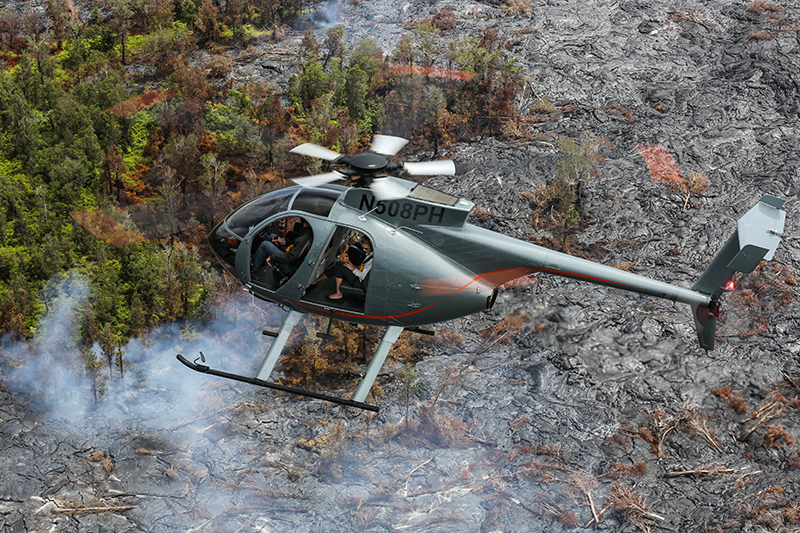 Hawaii helicopter tour, Paradise Helicopters, Kilauea