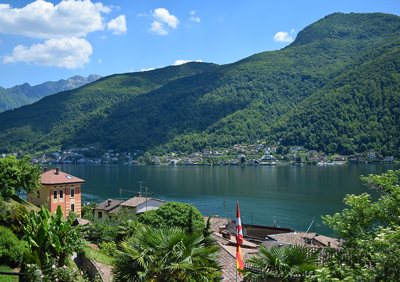 Lugano, Switzerland, lake
