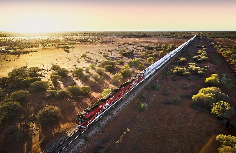 Ghan train Australia Great Southern Rail