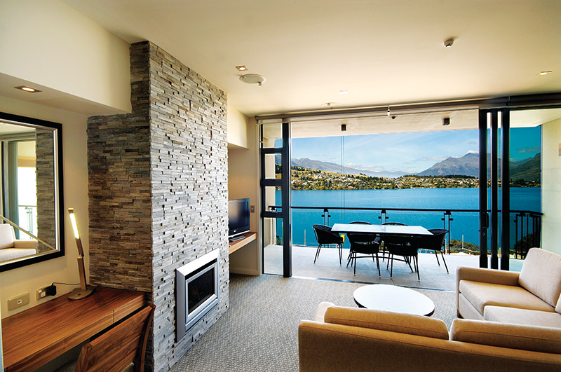 The Rees Hotel, Queenstown, NZ, lake, luxury