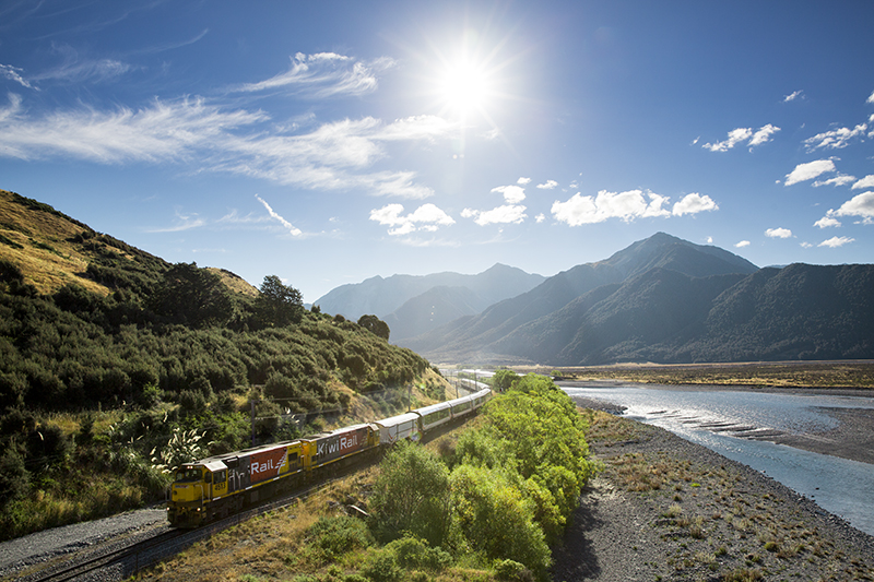 TranzAlpine Explorer, New Zealand, scenic train
