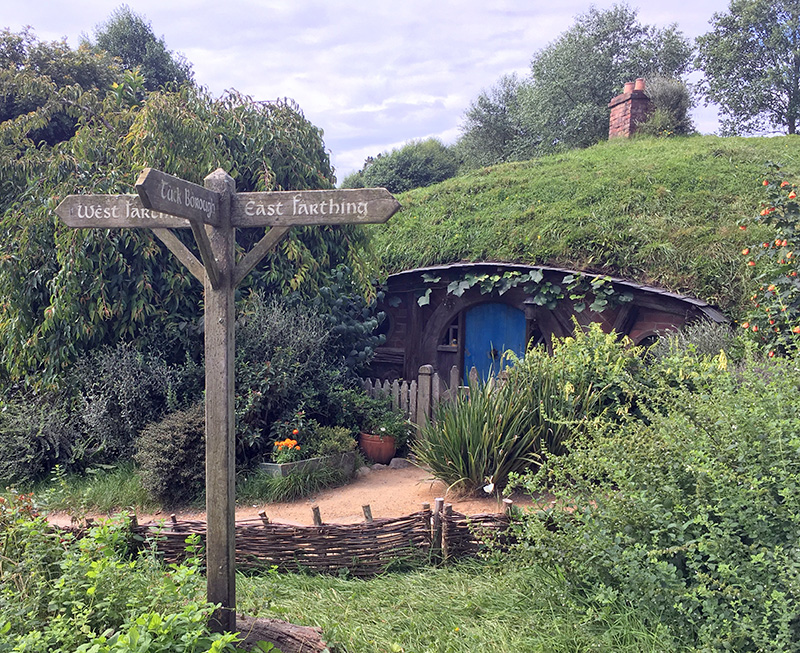 Signposts, Hobbiton, New Zealand