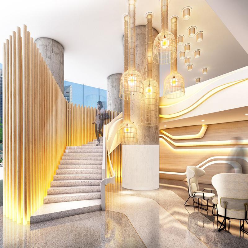 W Hotels, Marriott International, W Brisbane, Atrium