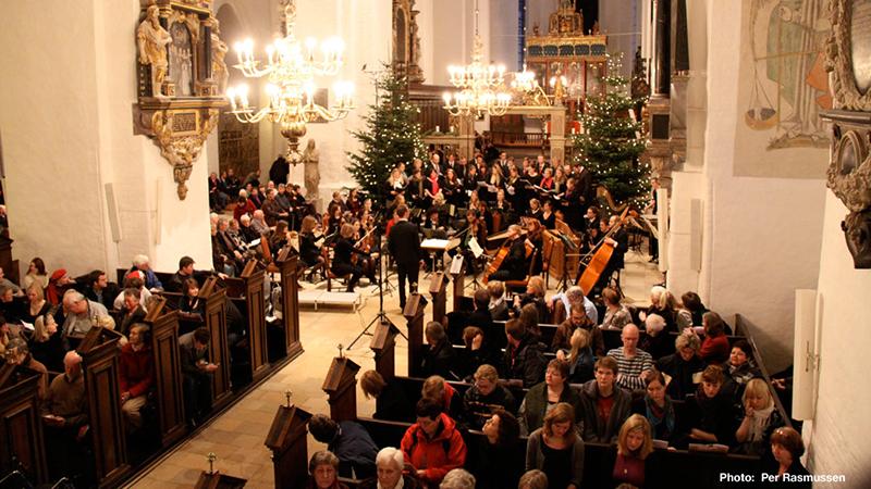 Christmas concerts, church, Aarhus, Denmark