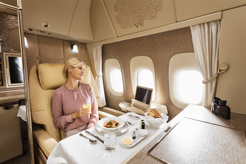 Emirates, First Class, Mercedes-Benz, Boeing 777