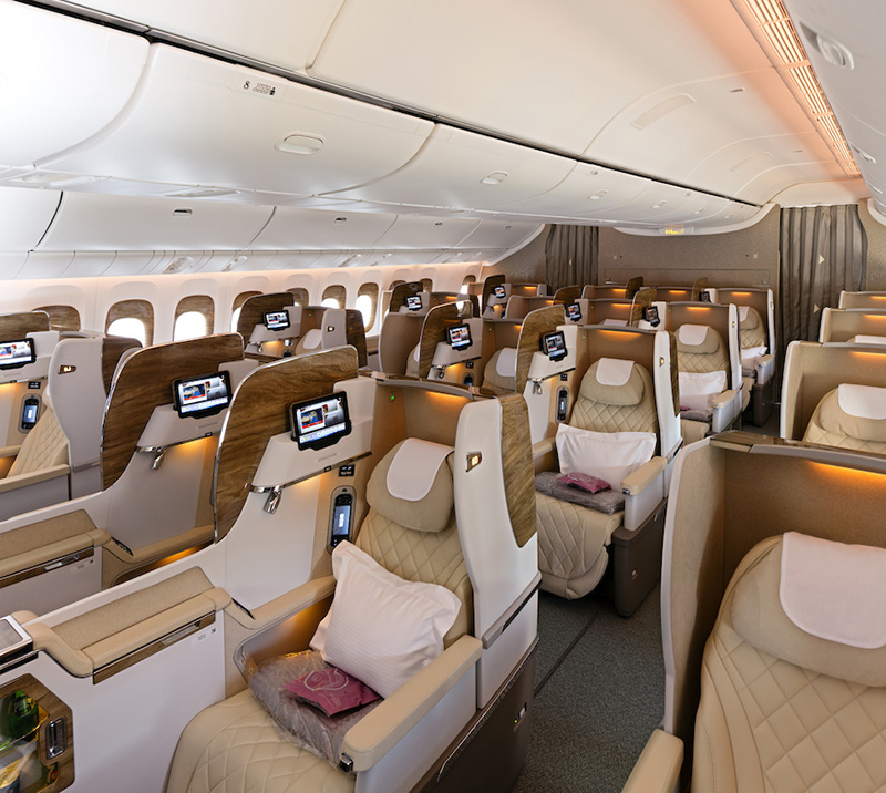 Emirates, Business Class, Mercedes-Benz, Boeing 777