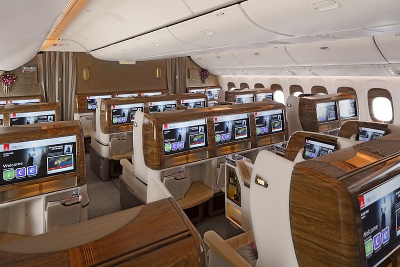 Emirates, Business Class, Mercedes-Benz, Boeing 777, inflight luxury