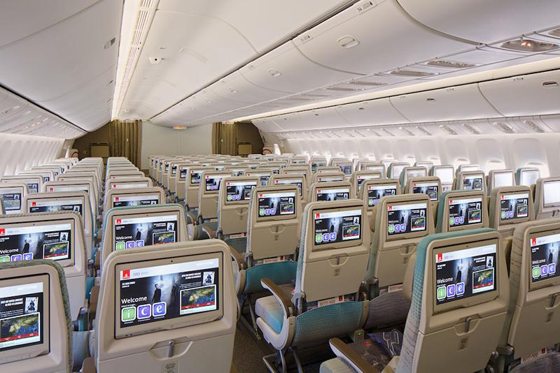 Emirates, Economy Class, Mercedes-Benz, Boeing 777