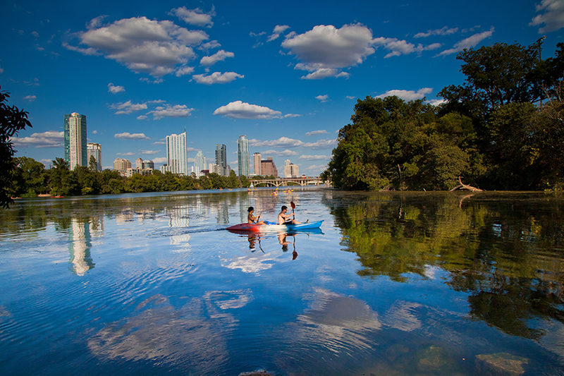 Kayaking, Austin, Texas