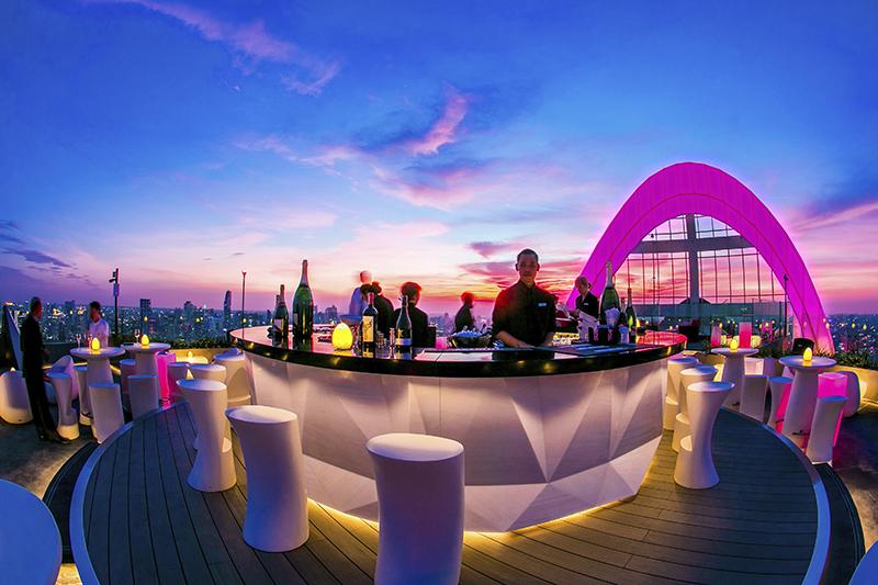 CRU Champagne Bar at Red Sky, Centara Grand at CentralWorld, Bangkok, Thailand