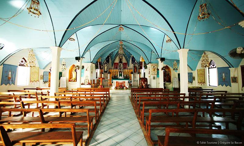Coral Church, Fakareva, Tahiti