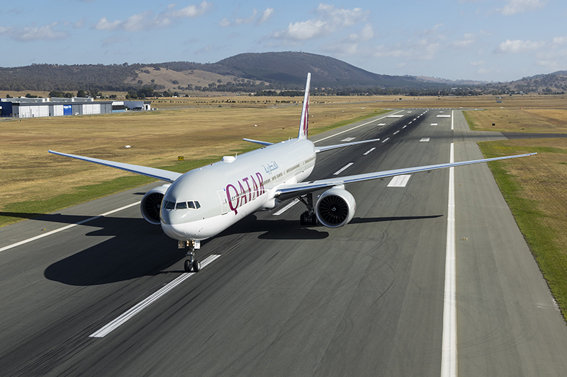 Qatar Airways, Canberra Airport