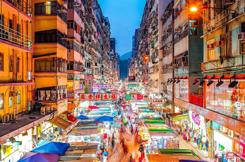 Hong Kong, Mongkok market