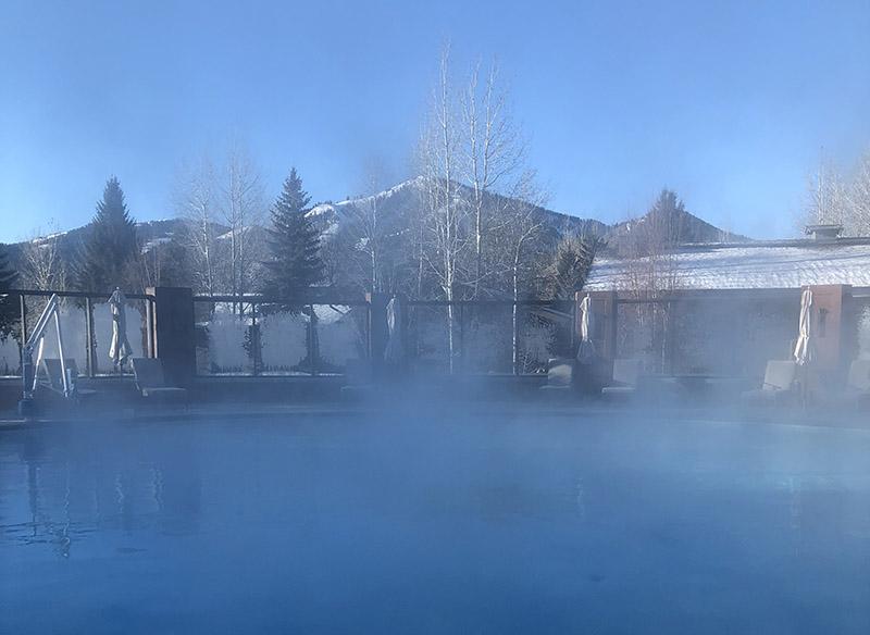 Sun Valley, Idaho, Bald Mountain, heated pool
