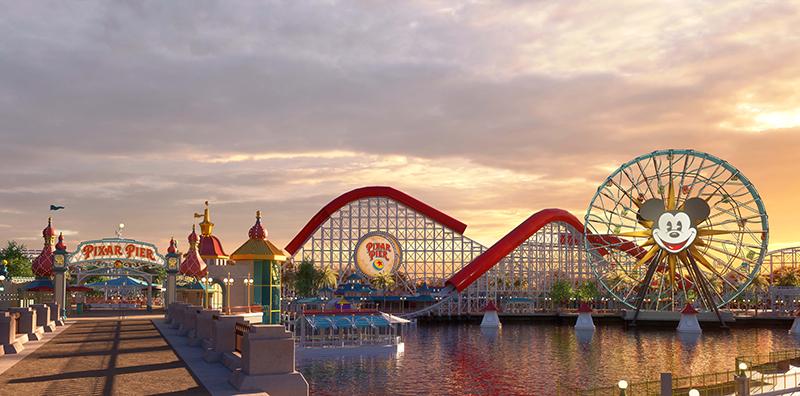 California Adventure Park, Incredicoaster, Pixar Pier, Disneyland